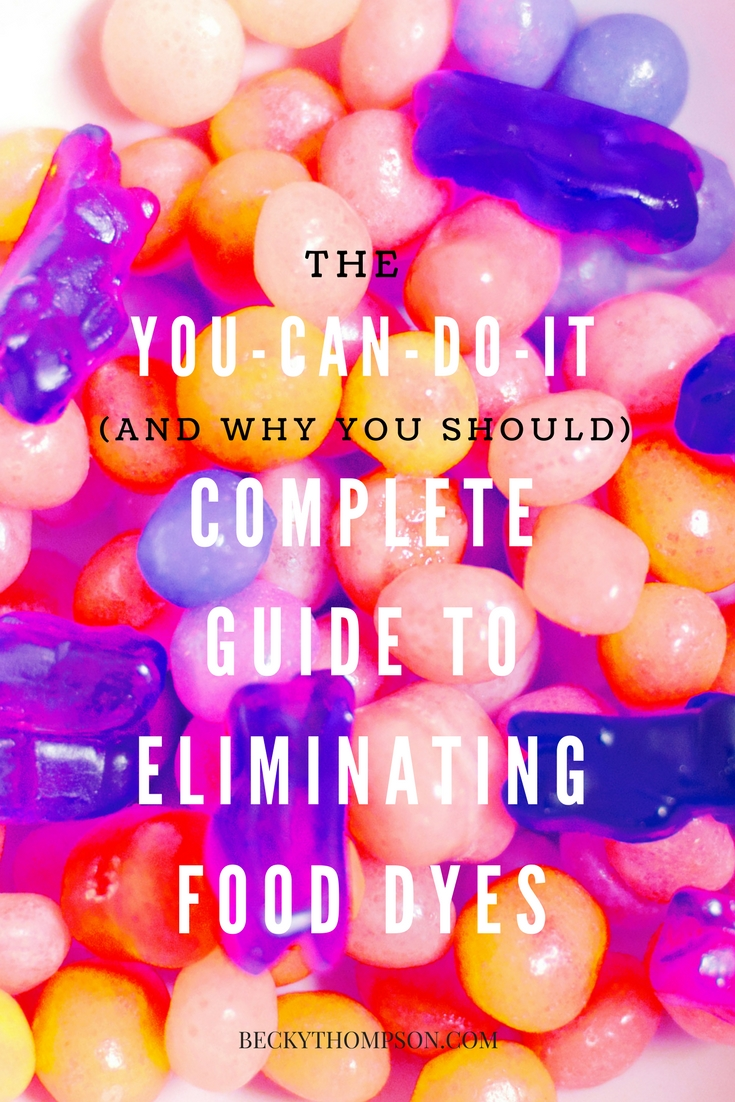 eliminating food dyes becky thompson